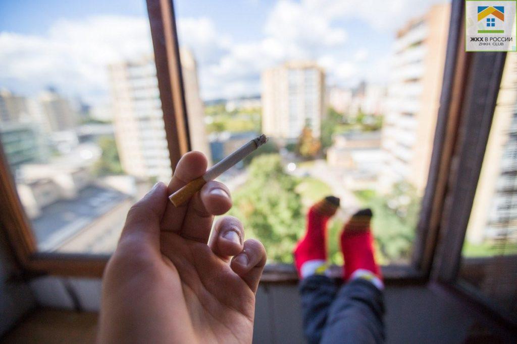 Можно ли курить на своем балконе?
