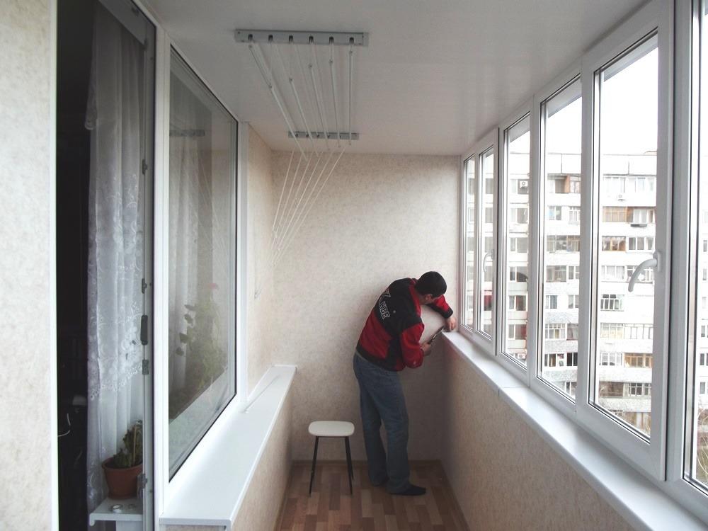 Этап обустройства балкона